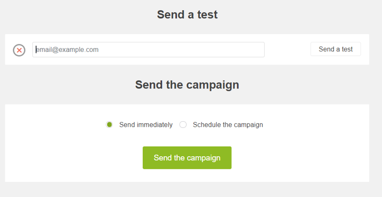 Send a test with Jackmail