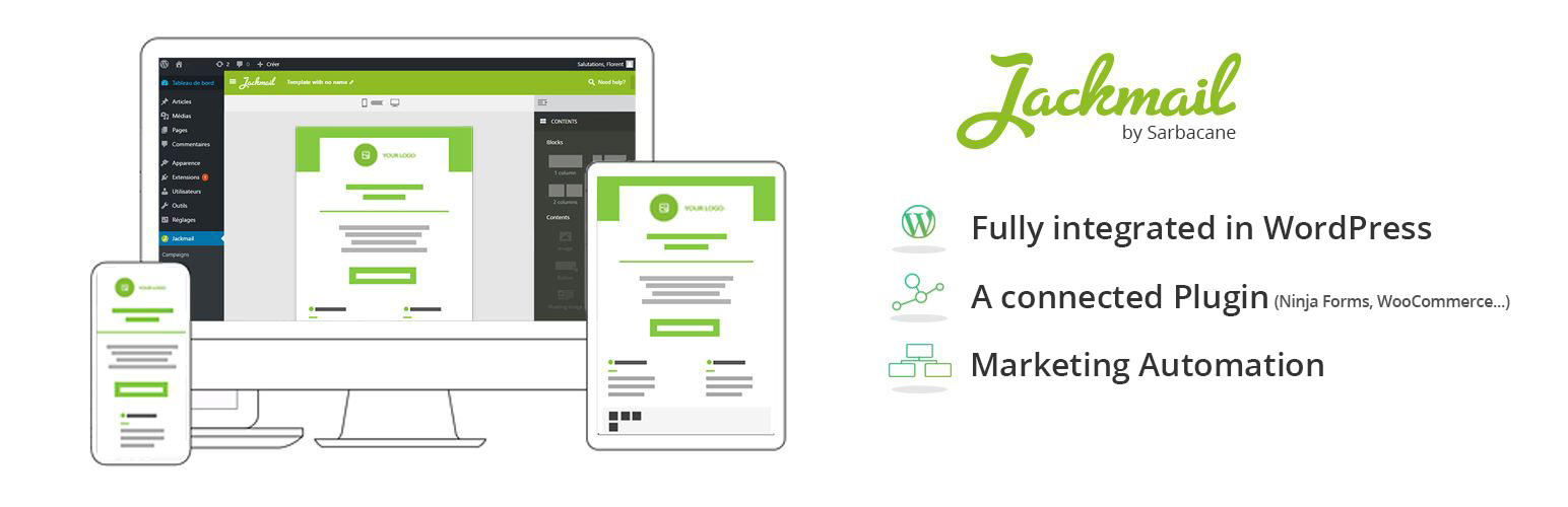 Jackmail, a WordPress plugin to create and send emails marketing