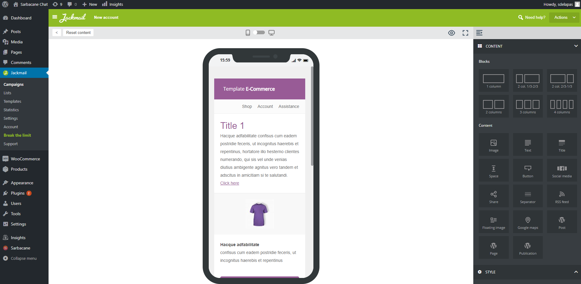 Responsive WooCommerce emails with Jackmail