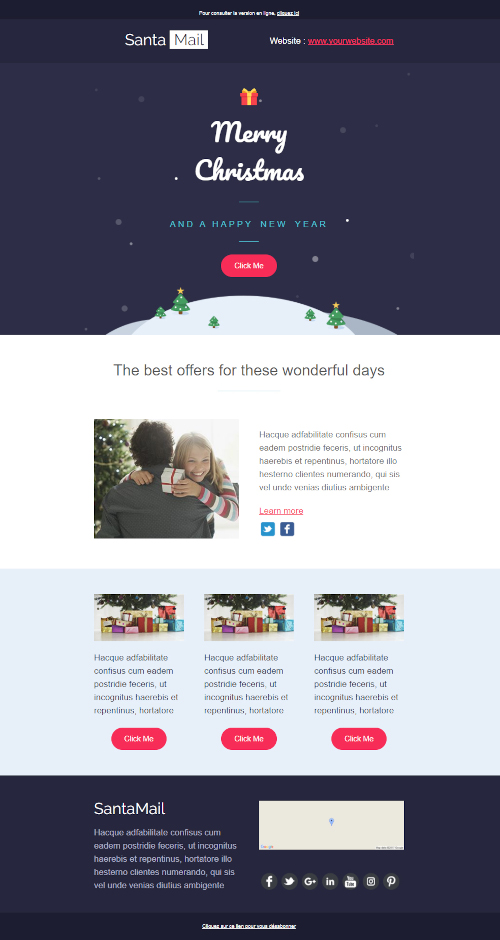 email template christmas 1