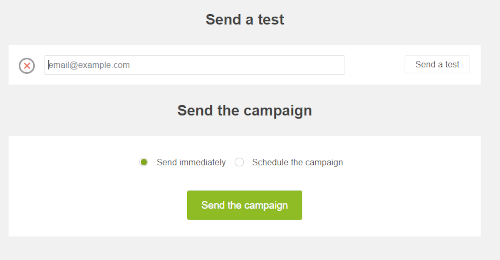 send a test